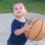 Small child with basketball