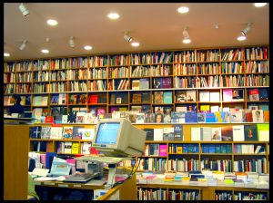 bookstore with shelves